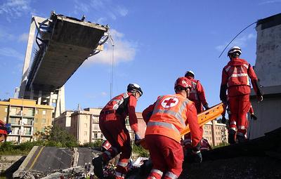 СМИ: число жертв обрушения моста в Генуе возросло до 42 человек