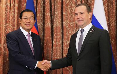 Премьер Камбоджи предложил Медведеву открыть представительство ТАСС в его стране