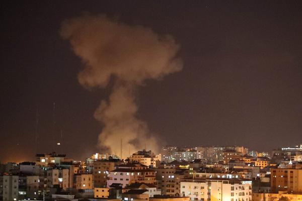 Израиль показал на видео удар по сектору Газа